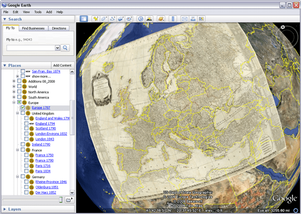 Browse historical maps in Google Earth historical maps in Google Earth