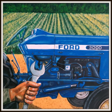 Third Place Winner - John Demory - Blue Tractor