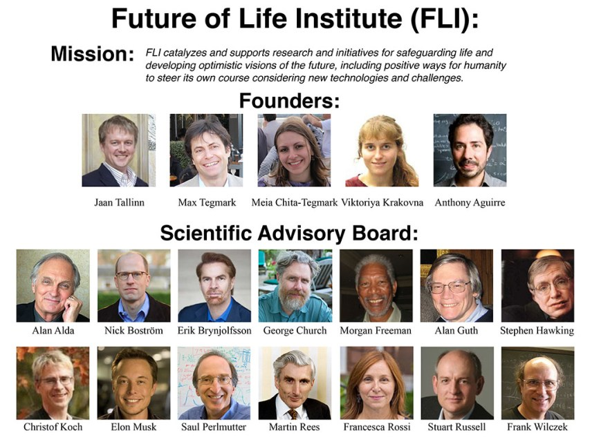 The Future of Life Institute's Founders and Scientific Advisory Board