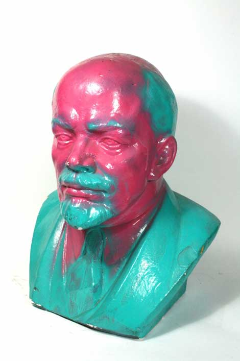 Vandalized Lenin Bust,1965/89, Plaster East Germany Photo Credit: Marie Astrid González