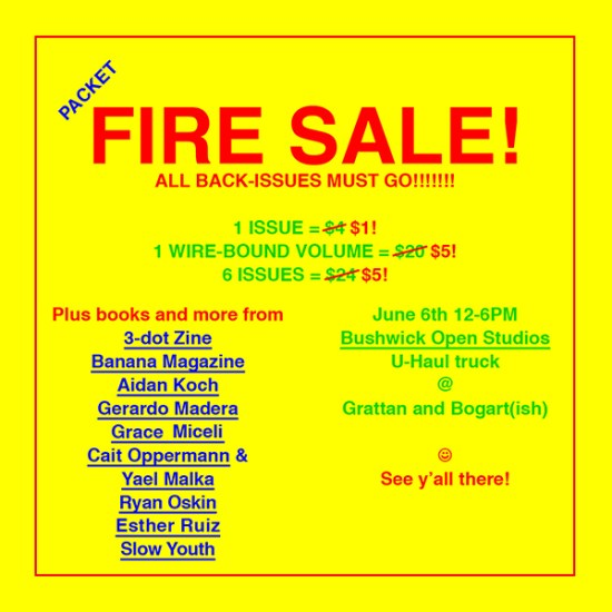 Packet Biweekly Fire Sale Poster