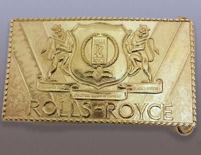 Rolls Royce Gold Buckle