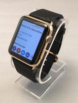 Gold Apple watch plating services