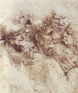 Five Characters in a Comic Scene, Leonardo Da Vinci