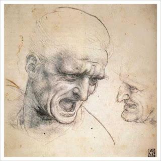 Study of the Heads of Two Soldiers, Leonardo Da Vinci