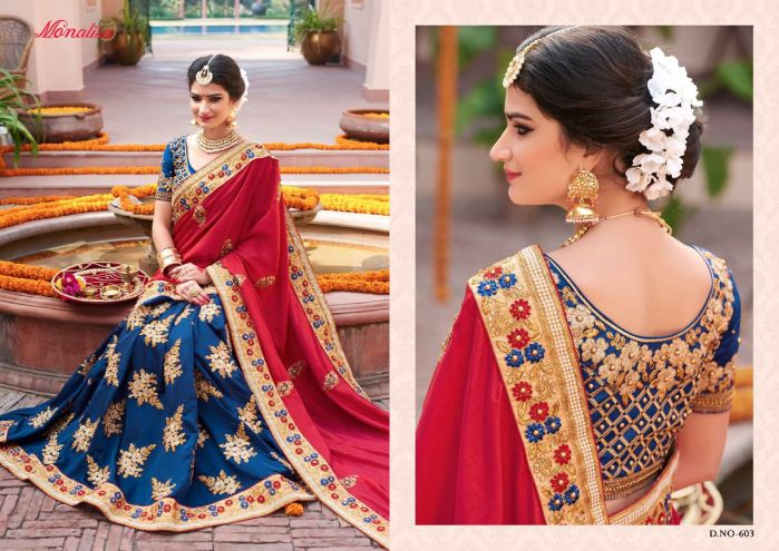 Monalisa v6 Bridal Sarees MM603 | Bridal Wear for LadiesShop Online Monalisa v6 Bridal Sarees MM603 @ArtistryC | Best Price: Rs 5384 or $ 90 | Free shipping in India - International shipping