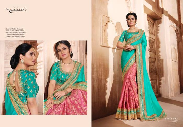 Nakkashi Elegance Euphony Designer Saree 4077 | Party Wear for LadiesShop Online Nakkashi Elegance Euphony Designer Saree 4077 @ArtistryC | Best Price: Rs 4109 or $ 68 | Free shipping in India - International shipping