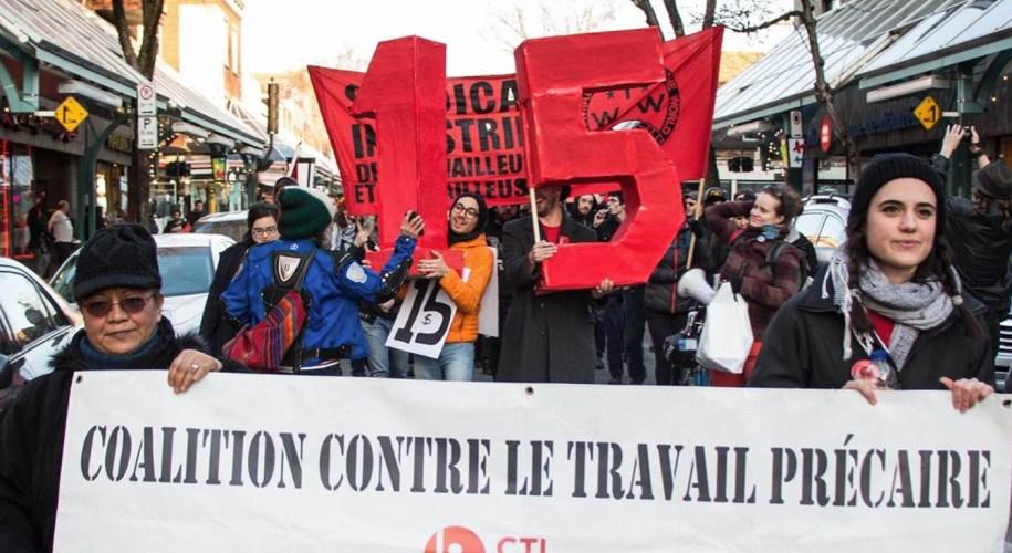 salaire minimum à 15$ au Québec