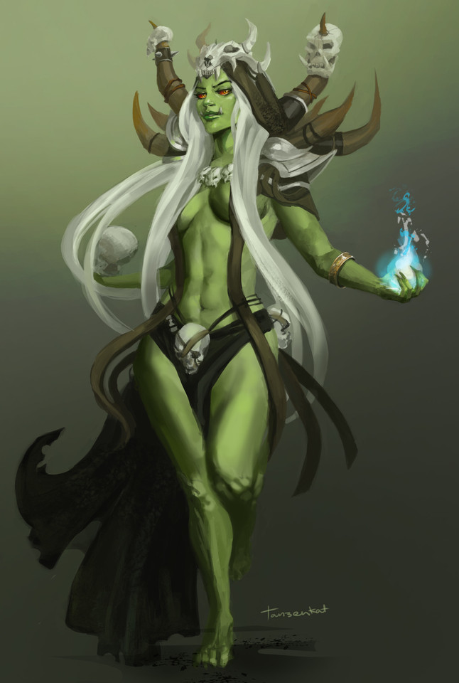 Female Orc by Charlie Creber