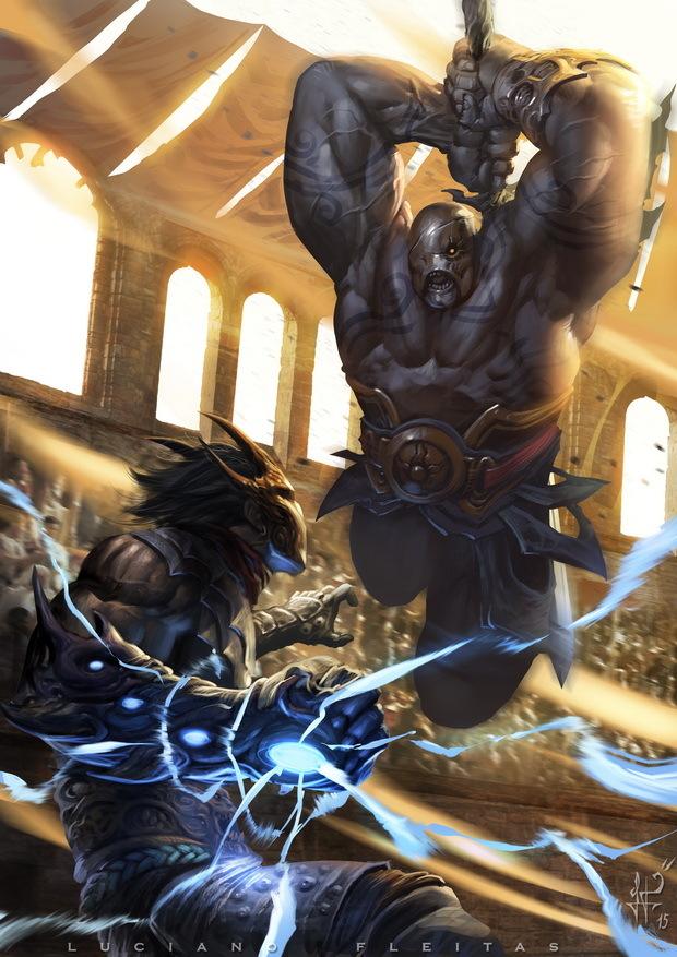 colliseum battle by demitrybelmont