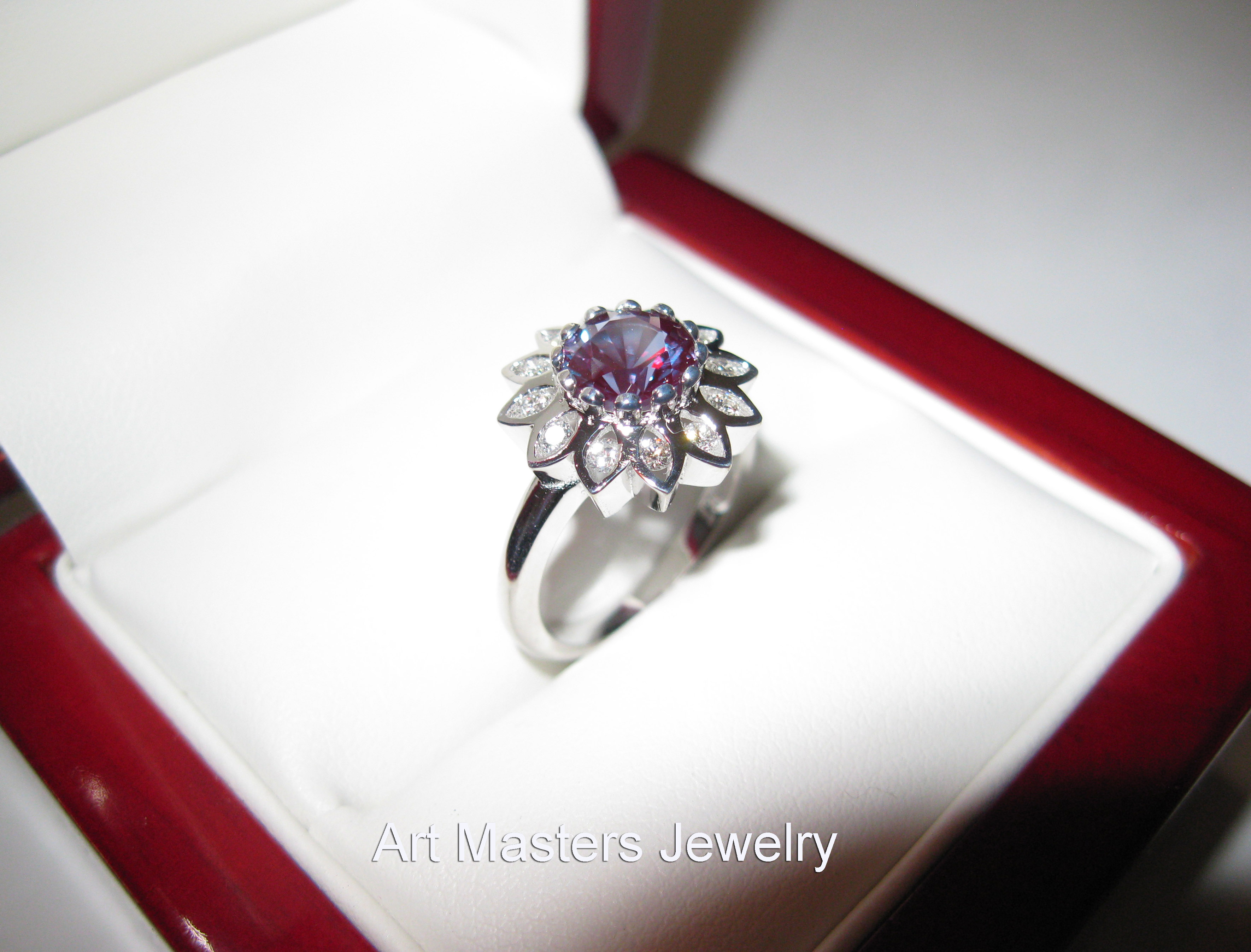 solitaire engagement rings alexandrite wedding band Solitaire Engagement Rings Art Masters Jewelry Engagement and Wedding Jewelry Blog