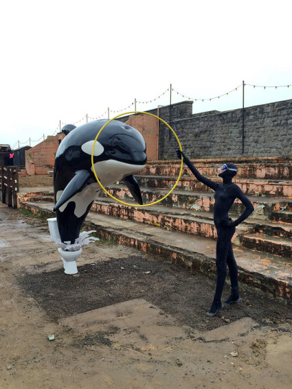 Banksy's Dismaland theme park Seaworld-like attraction. Christopher Jobson for Colossal