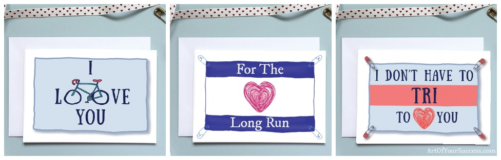 Valentine / Anniversary card for runner or sporty person Valentine Card, Valentine's Card, Anniversary Card, Card for runner, Card for him, sport card, card for husband, love card