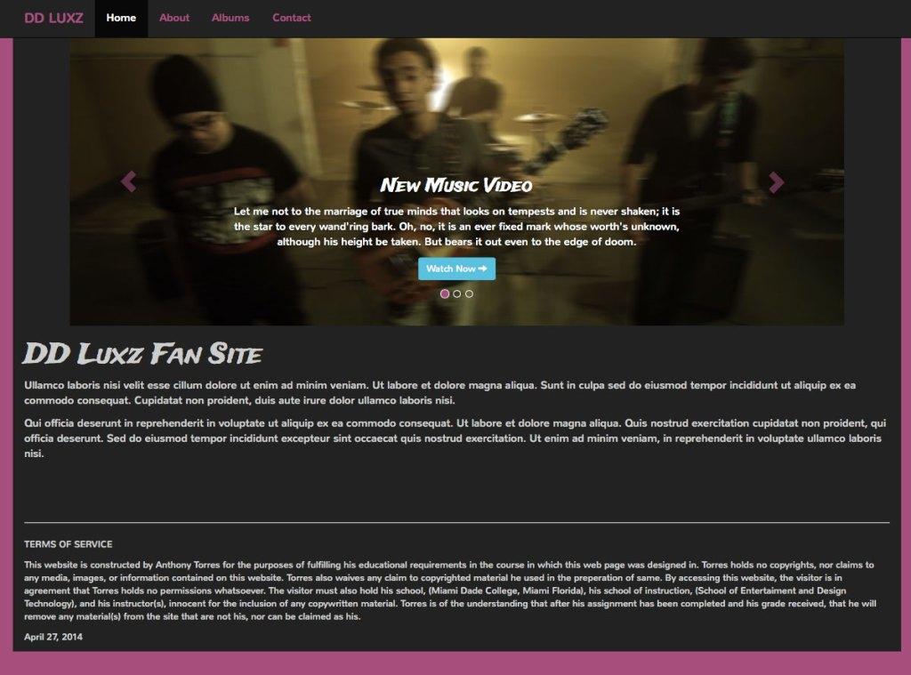 DD LUXZ homepage