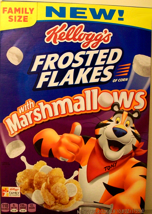 Kelloggs Frosted Flakes with Marshmallows Cereal