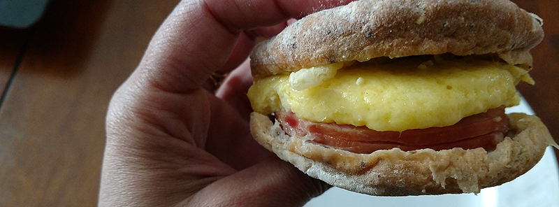 Whats Inside a Starbucks Gluten Free Smoked Canadian Bacon & Egg Breakfast Sandwich