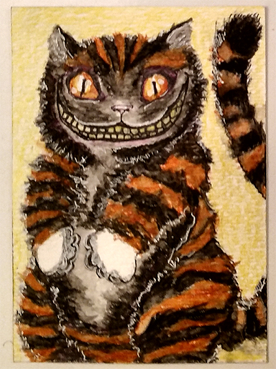 Whimsical black_orange cat with white paws for Fandanie