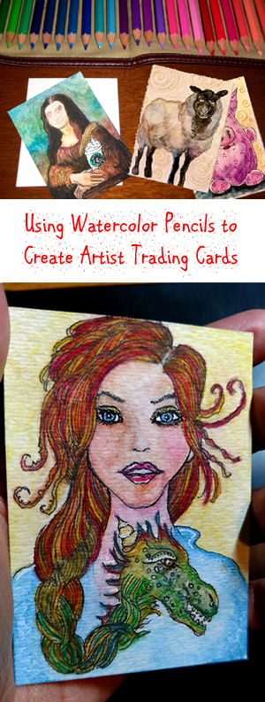 Using Watercolor Pencils to Create Artist Trading Cards - ATCs