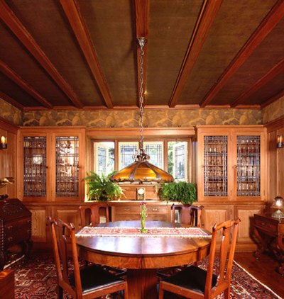 The Arts & Crafts Ceiling - Design for the Arts & Crafts House | Arts & Crafts Homes Online