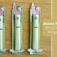 DIY Bunny Rabbit String Cheese Wrappers