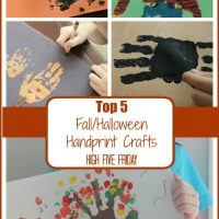 Top 5 Halloween/Fall Handprint Crafts | High Five Friday