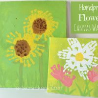 Handprint Flowers Canvas Wall Art | Step-by-Step Tutorial