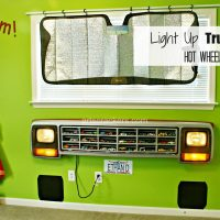 DIY Light-Up Truck Grill Toy Car Organizer