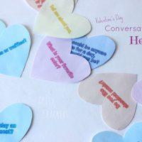 Conversation Starter Hearts for Valentine's Day