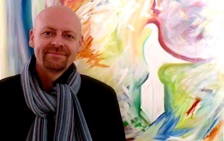 Dyslexic artist and campaigner Mike Juggins is back at the Birdwood House Gallery, Totnes
