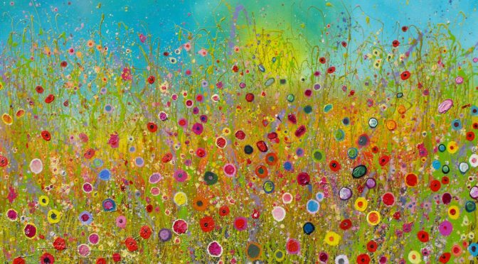 Yvonne Coomber, Walking In The Wild Garden Of Our Hearts, oil on canvas, 120 x 160 cms