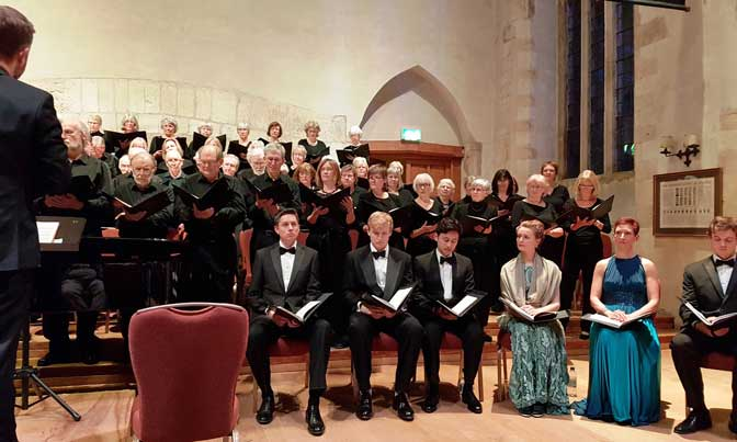 Genuine emotion as Dartington Community Choir performed St John Passion at Dartington Great Hall
