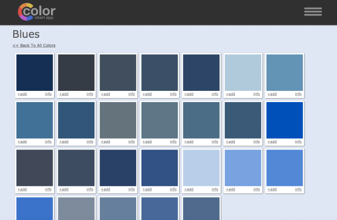 art paint color chart app category page