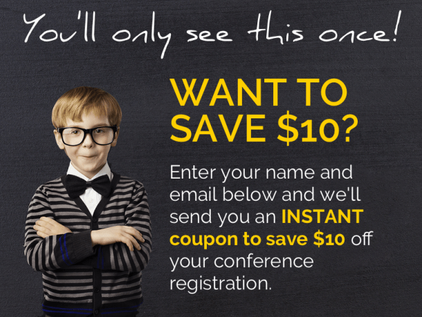 conference registration coupon