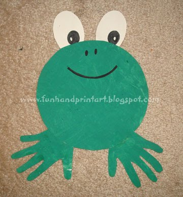Handprint-frog-craft