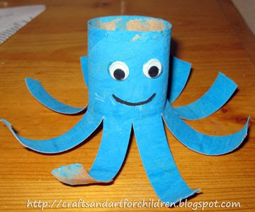 Toilet-paper-octopus-craft