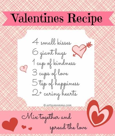 Valentines Recipe Poem