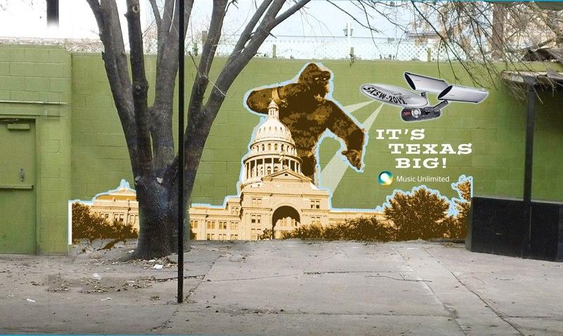SXSW DIY style Wall Mural - Sony