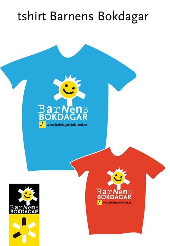 Barnens bokdagar tshirt-logo