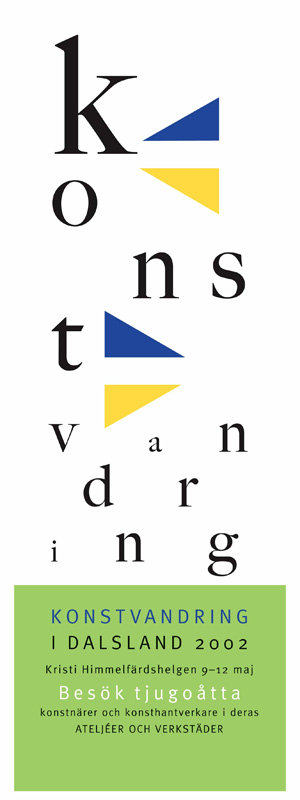 Konstvandring i Dalslands logotype bakas in i typografin.