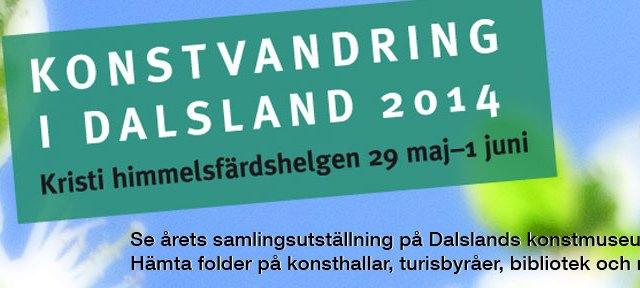 Konstvandring i Dalsland webbhead 2014