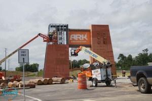 Ark Encounter Sign Under Construction