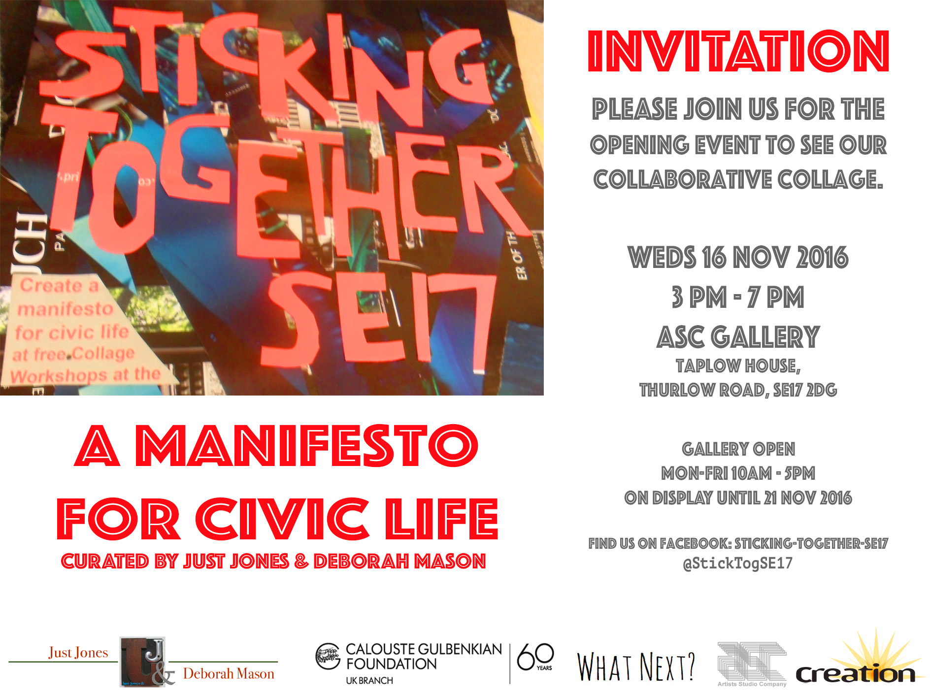 Stick Together/A manifesto for Civic Life