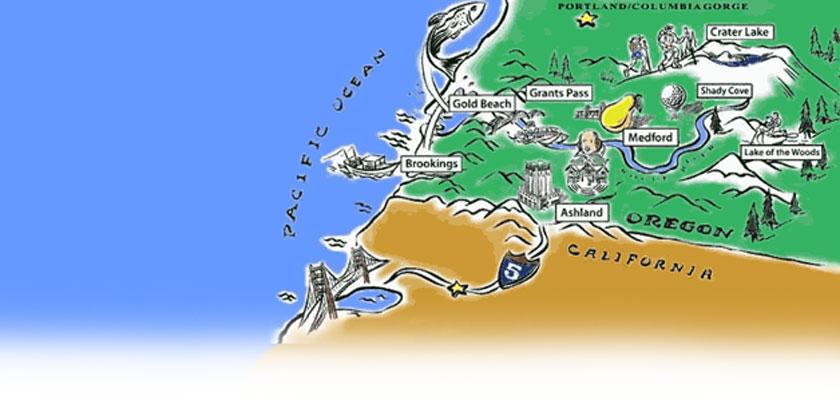 Ashland area map illustration