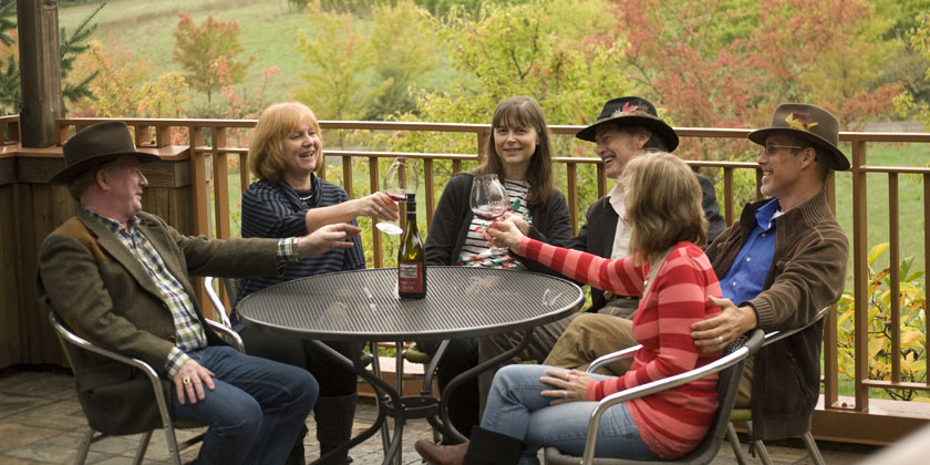 Group on a wine tour