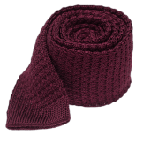 The Tie Bar - Deep Burgandy Silk Knit Tie