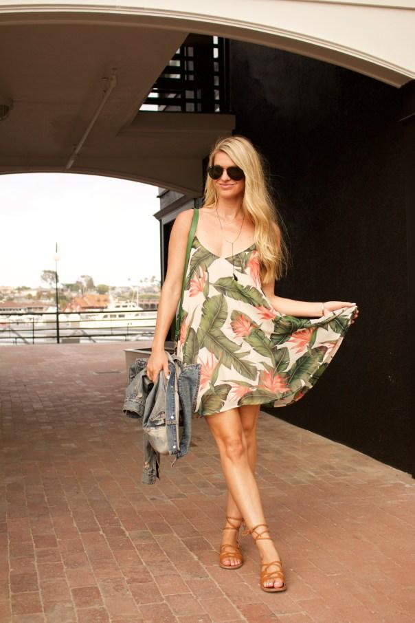 show me your mumu leaf print dress