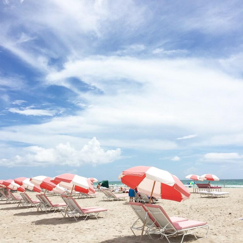 pink umbrellas south beach