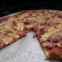 Keto-friendly meat lovers pizza