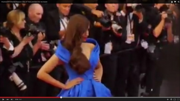 Cannes 2015 teaser: At the red carpet premiere for 'Sea of Trees', includes Sonam Kapoor (low res)
