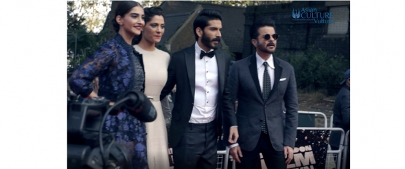 Sonam Kapoor & family support Harshvardhan in MIrzya Red Carpet London Film Festival (video)